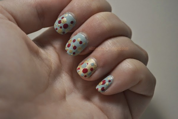 Dot Nail Art without Topcoat by Elins Nails
