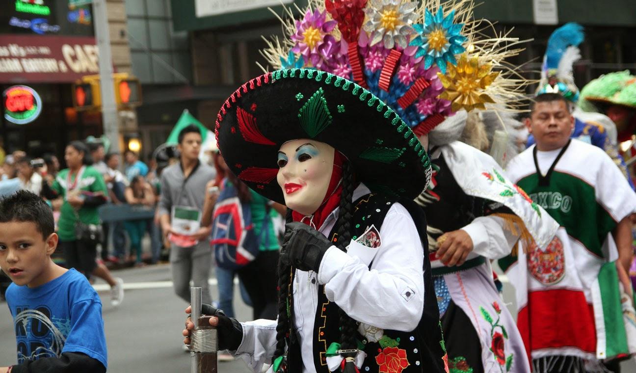 Máscaras en el carnaval de Tlaxcala.