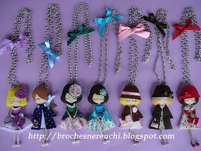 Куколки-брелки из фетра своими руками 5