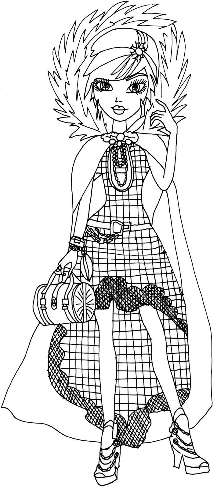 Free Printable Ever After High Coloring Pages: Cerise Hood Legacy ...