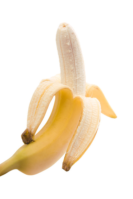 Peel banana from bottom