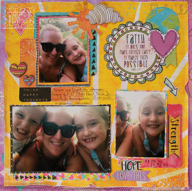 """ Hope , Love this "" layout by Bernii Miller for BoBunny using the Believe collection."
