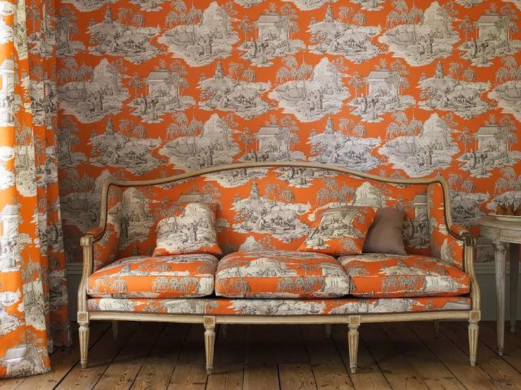 Fiorito interior design fabric toile de jouy - Toile de jouy decoration ...