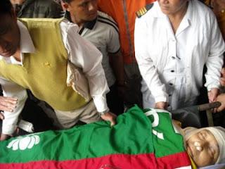 Dead body Madan Tamang AIGL president