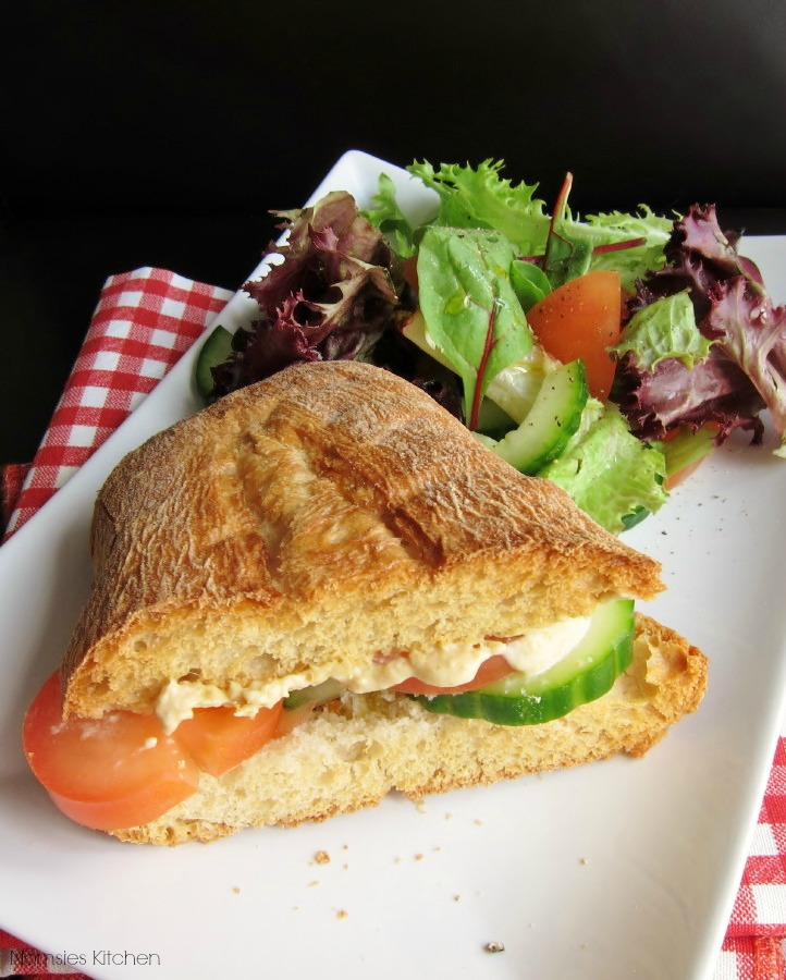 Vegetarian Hummus Sandwich from Nomsies Kitchen