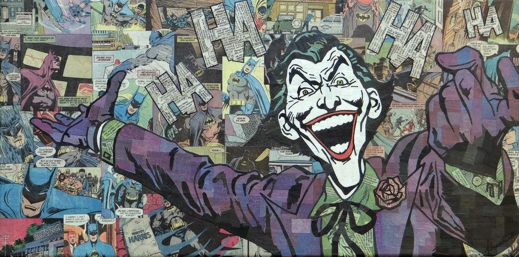 09-Joker-Mike-Alcantara-Comic-Collage-Art-www-designstack-co