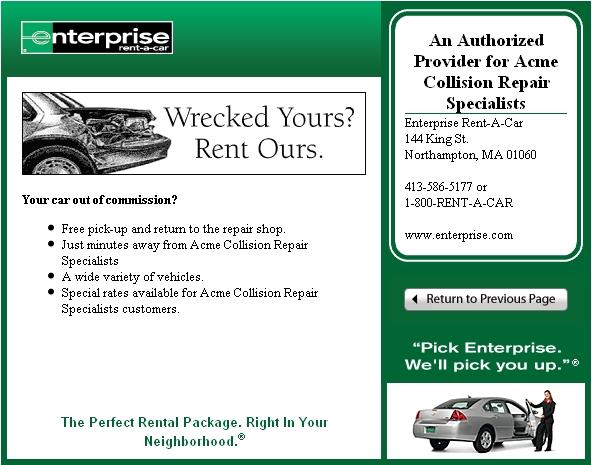 Enterprise Rent A Car Lindsay On