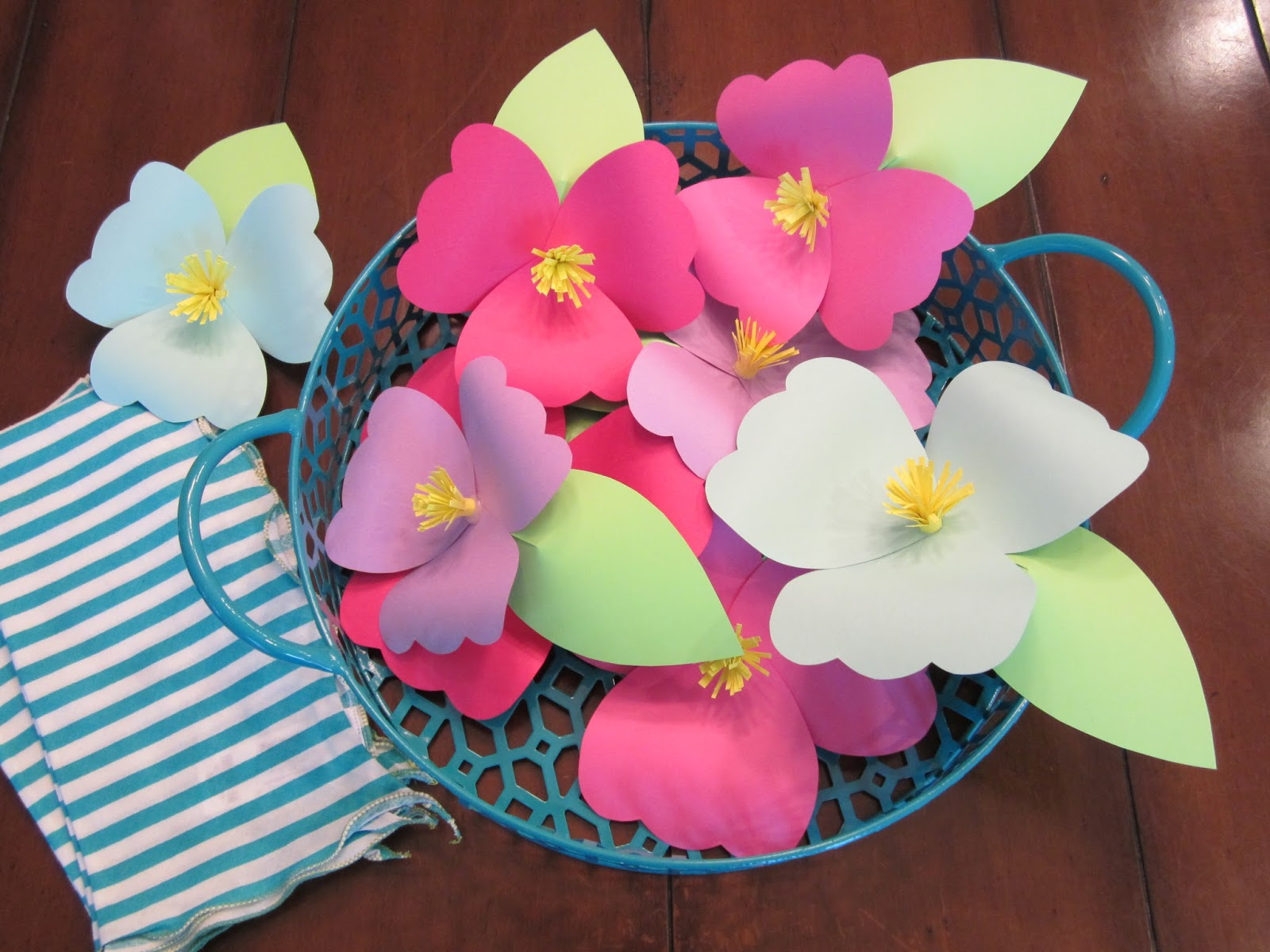 Homemade Luau Party Paper Flowers Design Sprinkle