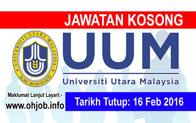 Jawatan Kerja Kosong Universiti Utara Malaysia (UUM) logo www.ohjob.info februari 2016