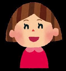 女の子のイラスト「笑った顔」