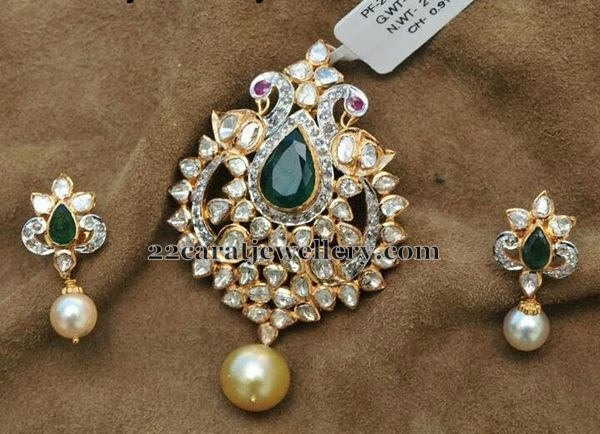 Pachi Pendant Pearl Drop Earrings