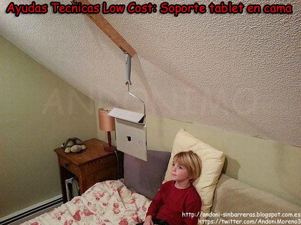 Ayudas tecnicas low cost soporte tablet en cama - Soporte tablet cama ...