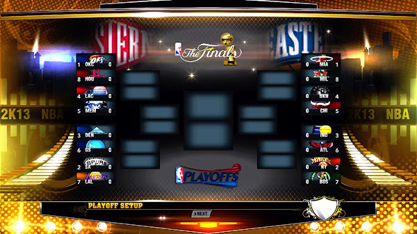 NBA Playoffs 2013 Bracket for NBA 2k13 Download