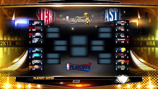 NBA Playoffs 2013 Bracket for NBA 2k13 Download