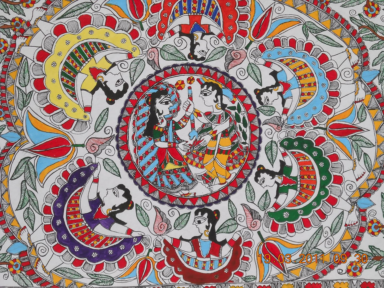 madhubani paintings The art of madhubani painting, is the traditional style developed in the mithila region, in the villages around madhubani, bihar madhubani literally means a forest of honey.