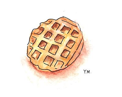 Belgium waffle by Yukié Matsushita