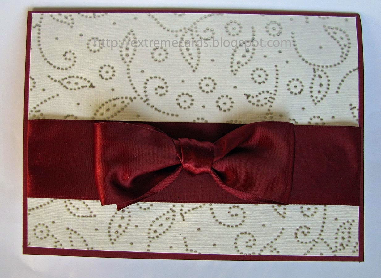 bow front card