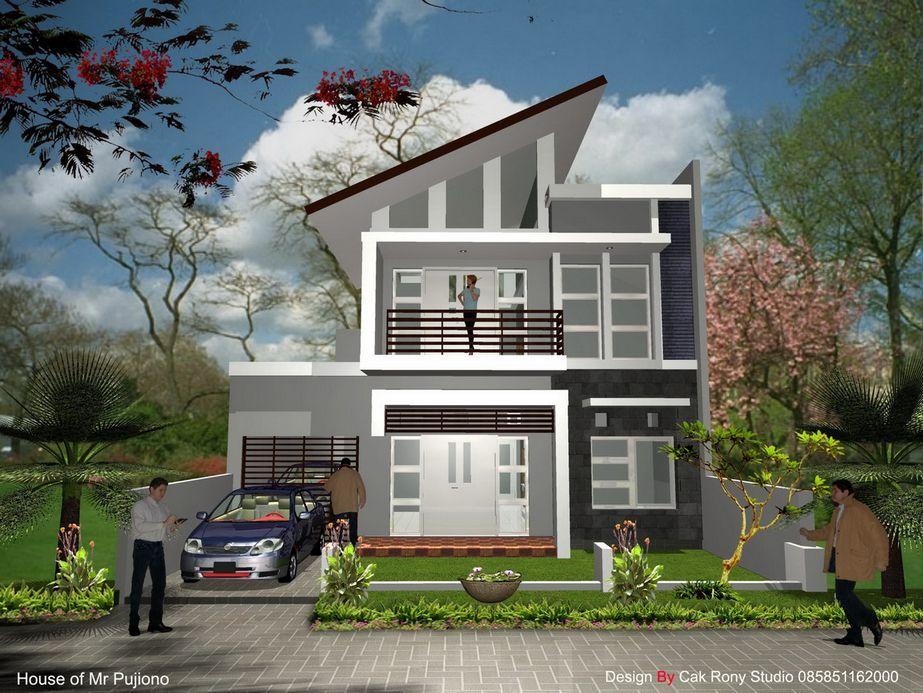 contoh rumah tingkat 2 minimalis menarik