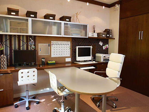 Modern Home Office Guest Room