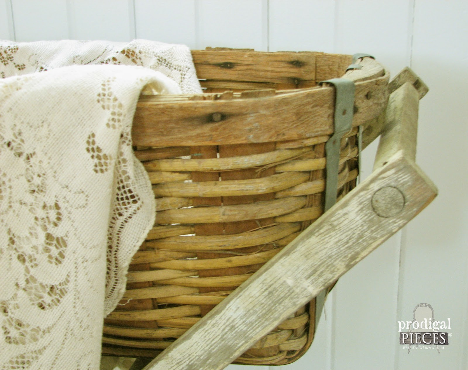 Antique Basket Laundry Cart by Prodigal Pieces http://www.prodigalpieces.com