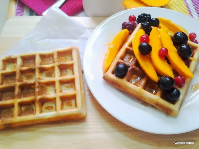 Mangoes and Berries Waffles