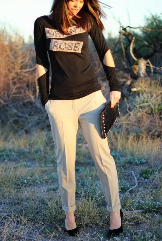 Pantalón Mango- Camiseta Denny Rose - Cartera Zara
