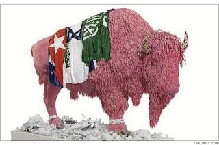 gum sculpture buffalo
