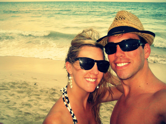 on the beach at playa del carmen  la perla white sand
