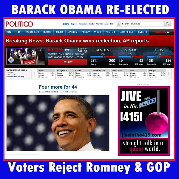 Voters reject GOP and Willard Mitt Romney.