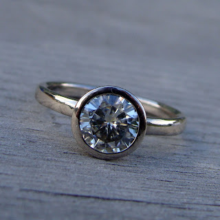 moissanite solitaire ring