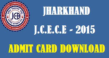 JCECE-2015 Admit Card by JCECEB