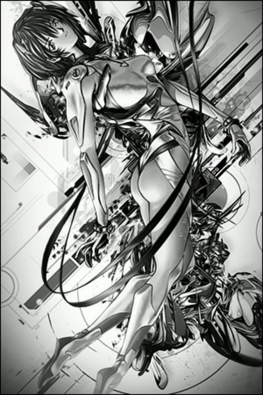 Ghost in the Shell Vertical por Rabling-Arts