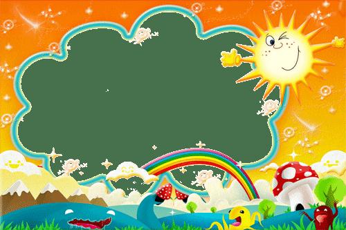 marco con paisaje infantil