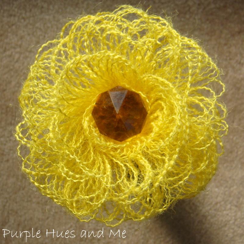 Burlap Fringed Flower