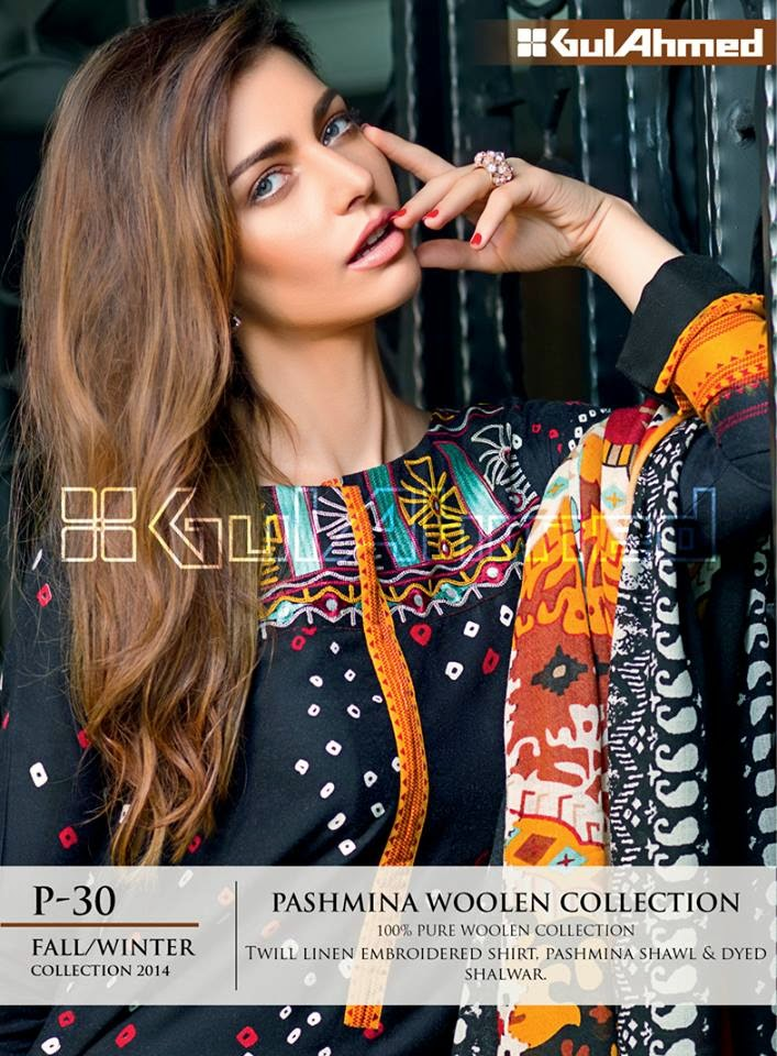 Gul Ahmed Pashmina Woolen Collection 2015
