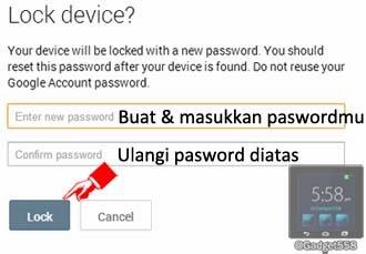 Mengunci perangkat Android yang hilang