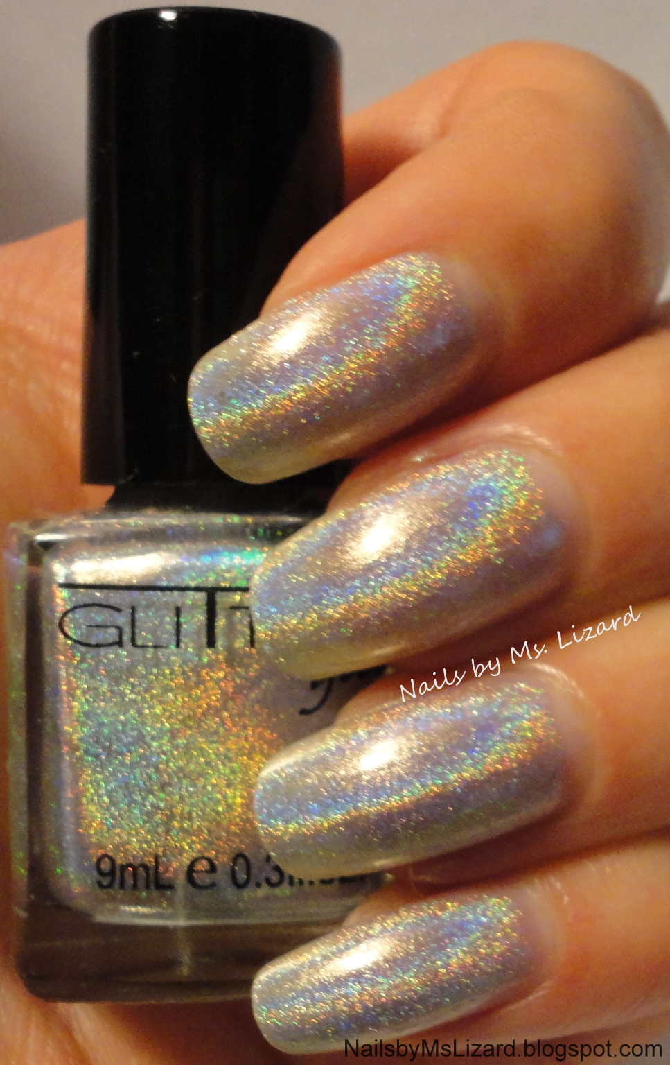 Nails by Ms. Lizard: Glitter Gal 3D Silver Holo Swatches, Review ...