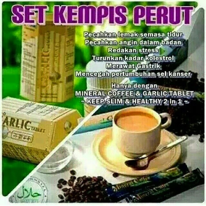 Mineral Coffee RM30.00 / Garlic Tablet RM38.00. Berminat hubungi Zaiham 017-3597612