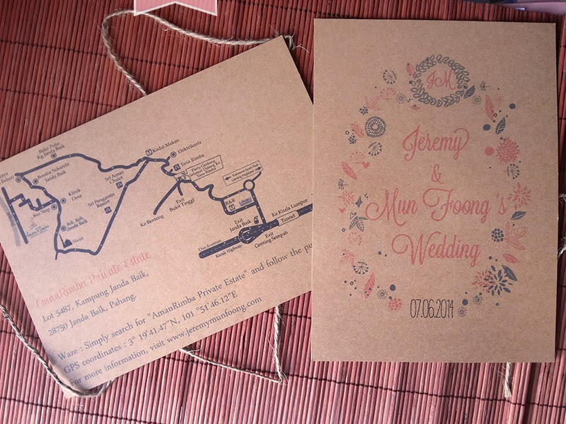vintage floral wedding card for garden wedding