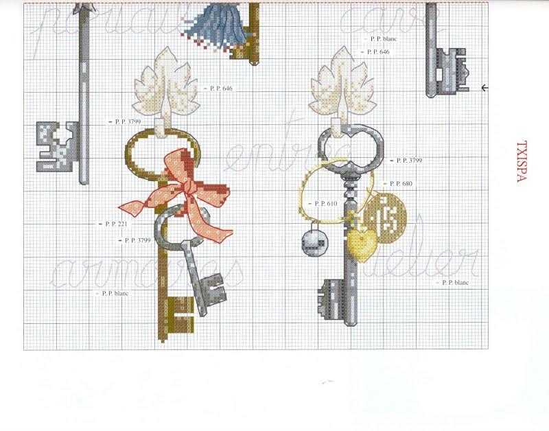 Вышивка крестиком схема для ключницы