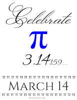 Celebrate PI Day, March 14