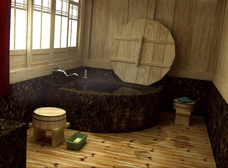 salle de bain traditionnel japonaise
