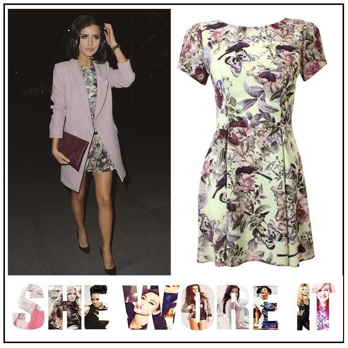 Bird Print, Butterfly Print, Dress, Floral Print, Graphic Print, In Love With Fashion, Light Pink, Light Purple, LOVE, Lucy Mecklenburgh, Mint Green, Pastel, Short Sleeve, Skater Dress, Tailored
