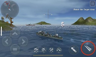 Screenshots of the Warship battle for Android tablet, phone.