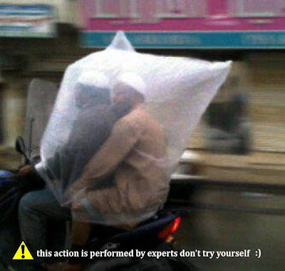 Protection from Rain - It happens only in India