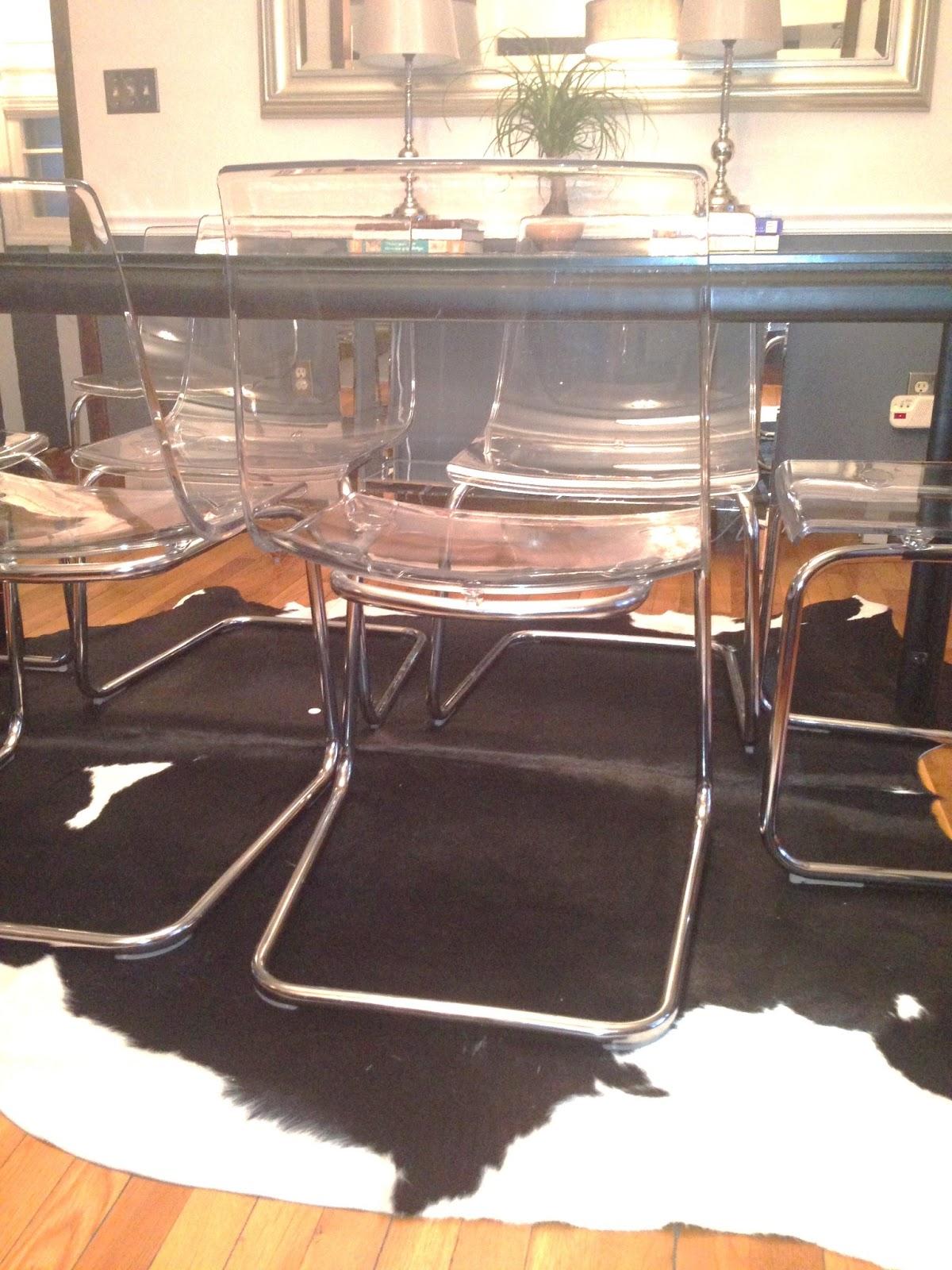 Decor4poor Cowhide Rug In Dining Room