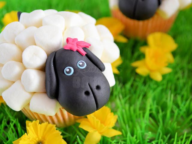 schapen cupcake