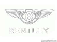 Mewarnai gambar logo mobil Bentley