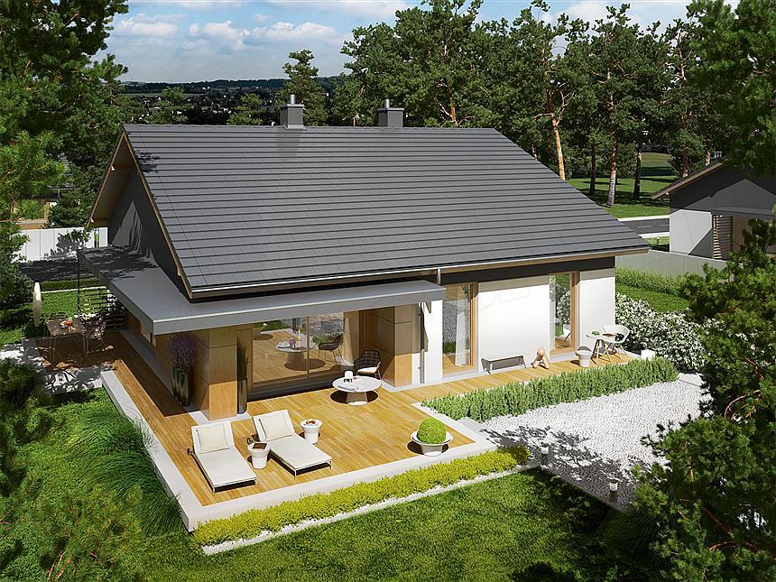 parterowy dom energooszczędny