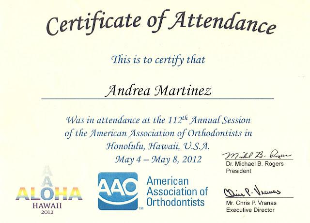 certificado008 - Parabéns, Dra. Andrea Martinez